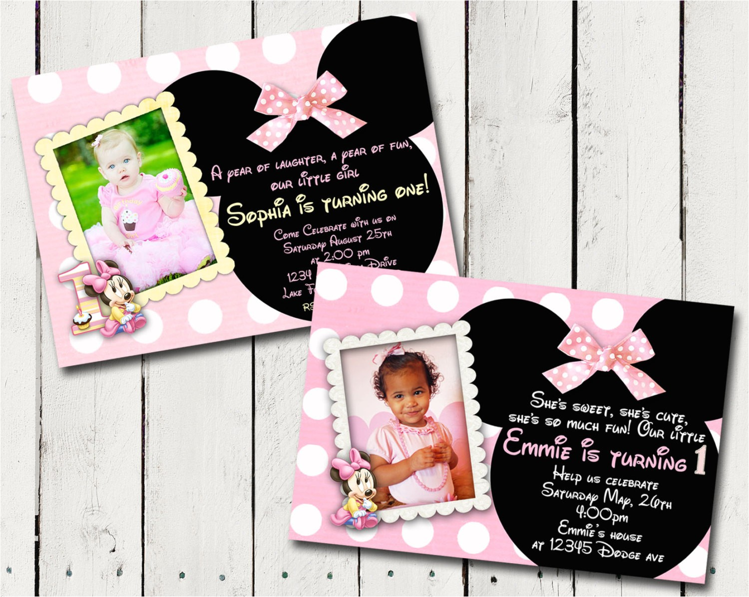 baby minnie mouse 1st birthday party