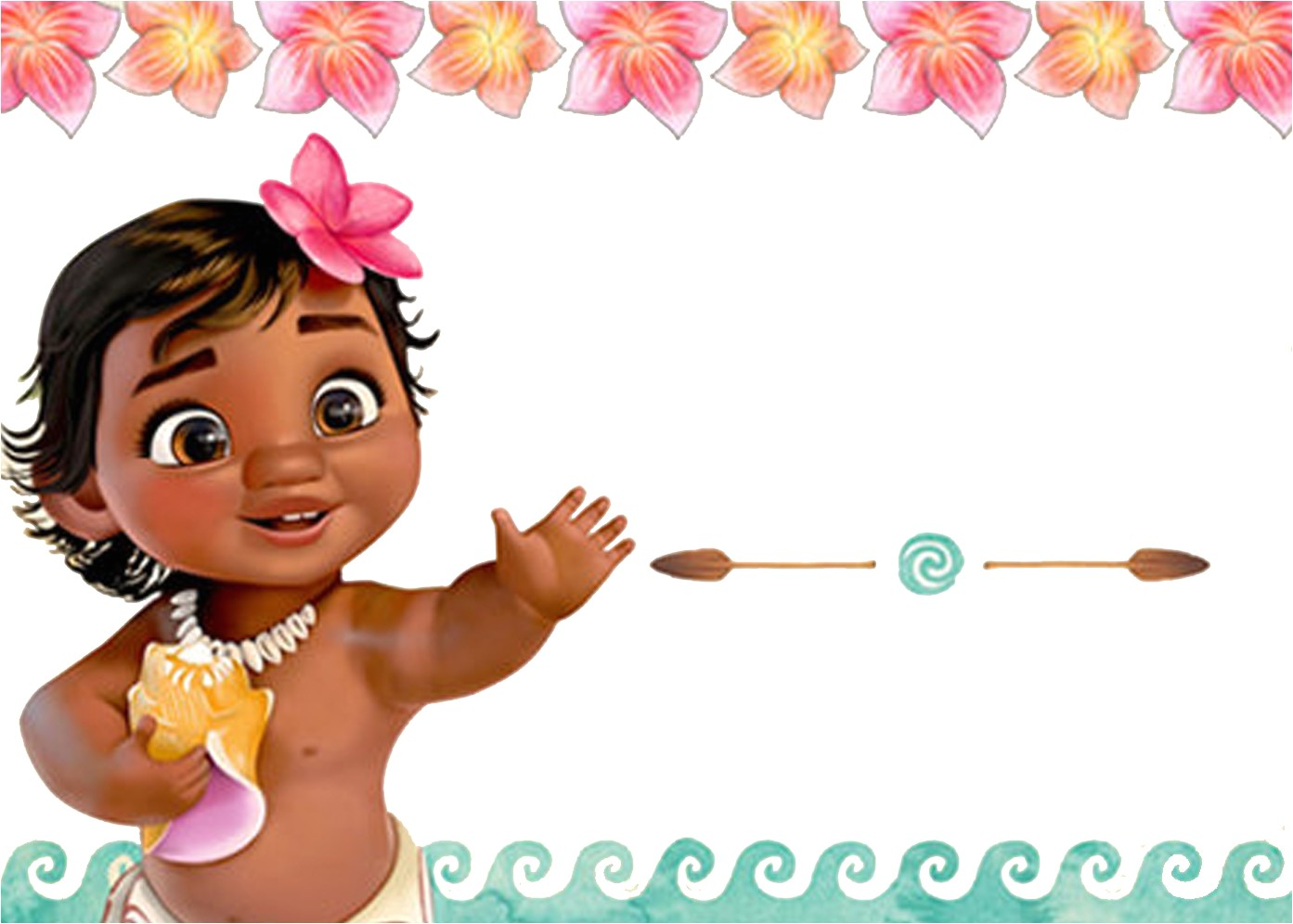 Baby Moana Birthday Invitation Template Free Moana Birthday Invitation Template