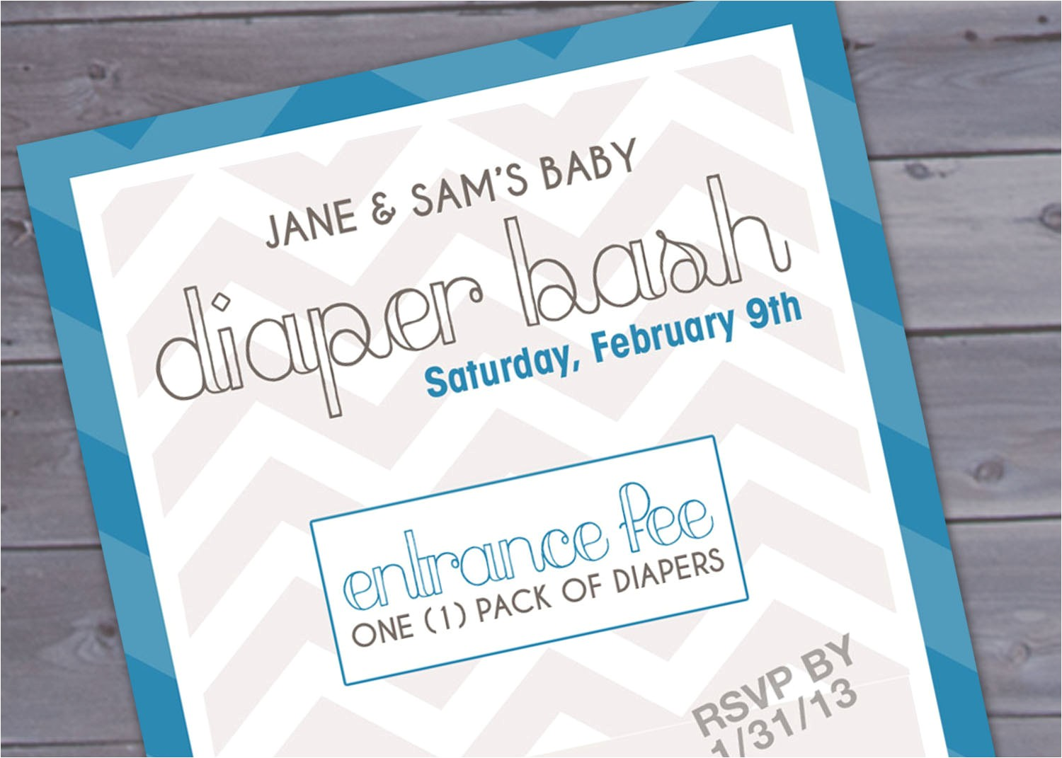 diaper party invitation wording template