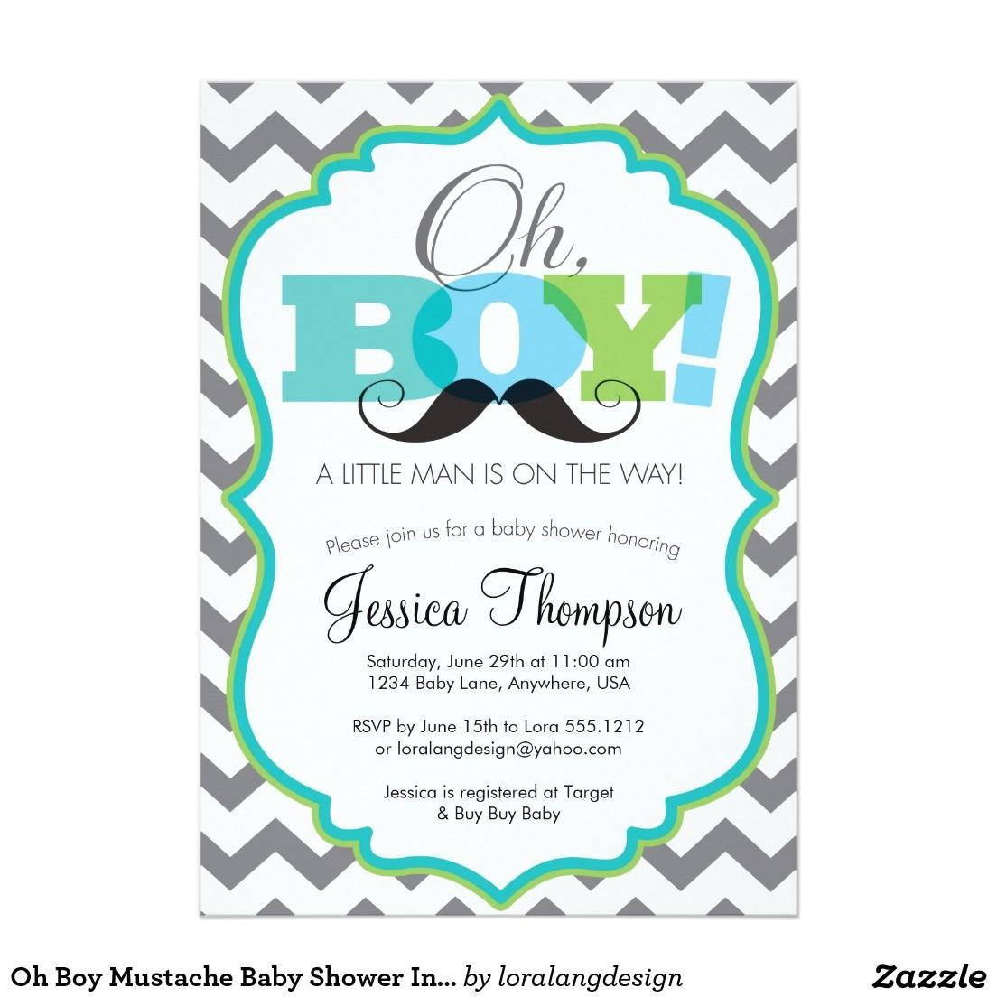 boy baby shower invites