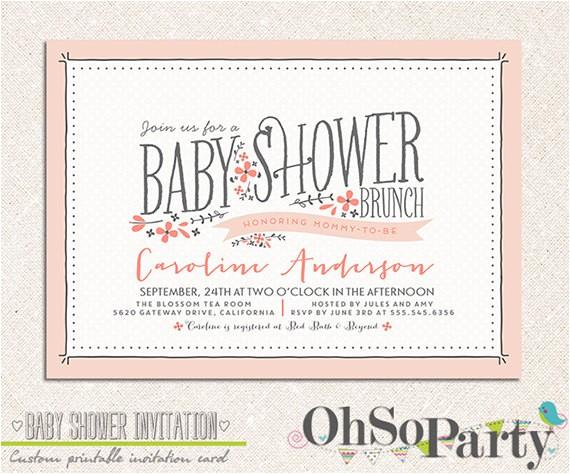 baby flora custom baby shower brunch