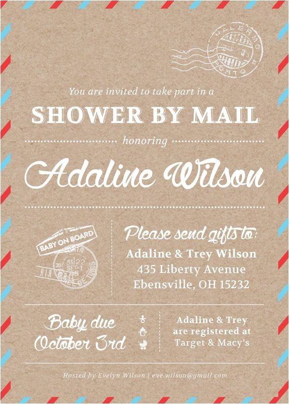 baby shower by mail invitations