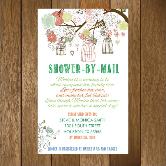rustic shower by mail baby shower