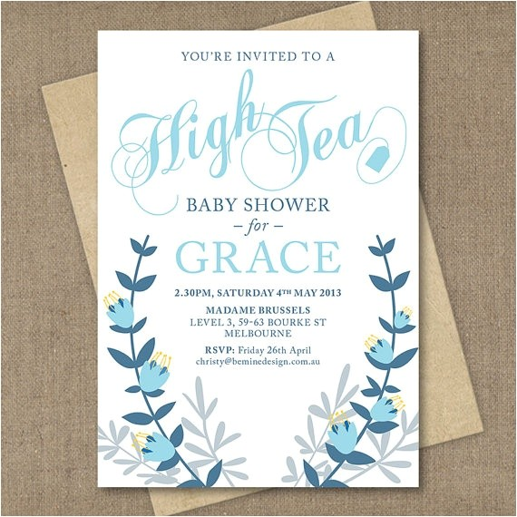 Baby Shower High Tea Invitation Wording 26 Best Baby Shower Invites Images On Pinterest