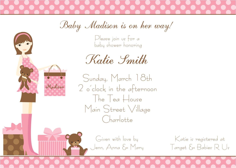 baby shower invitation wording afternoon tea