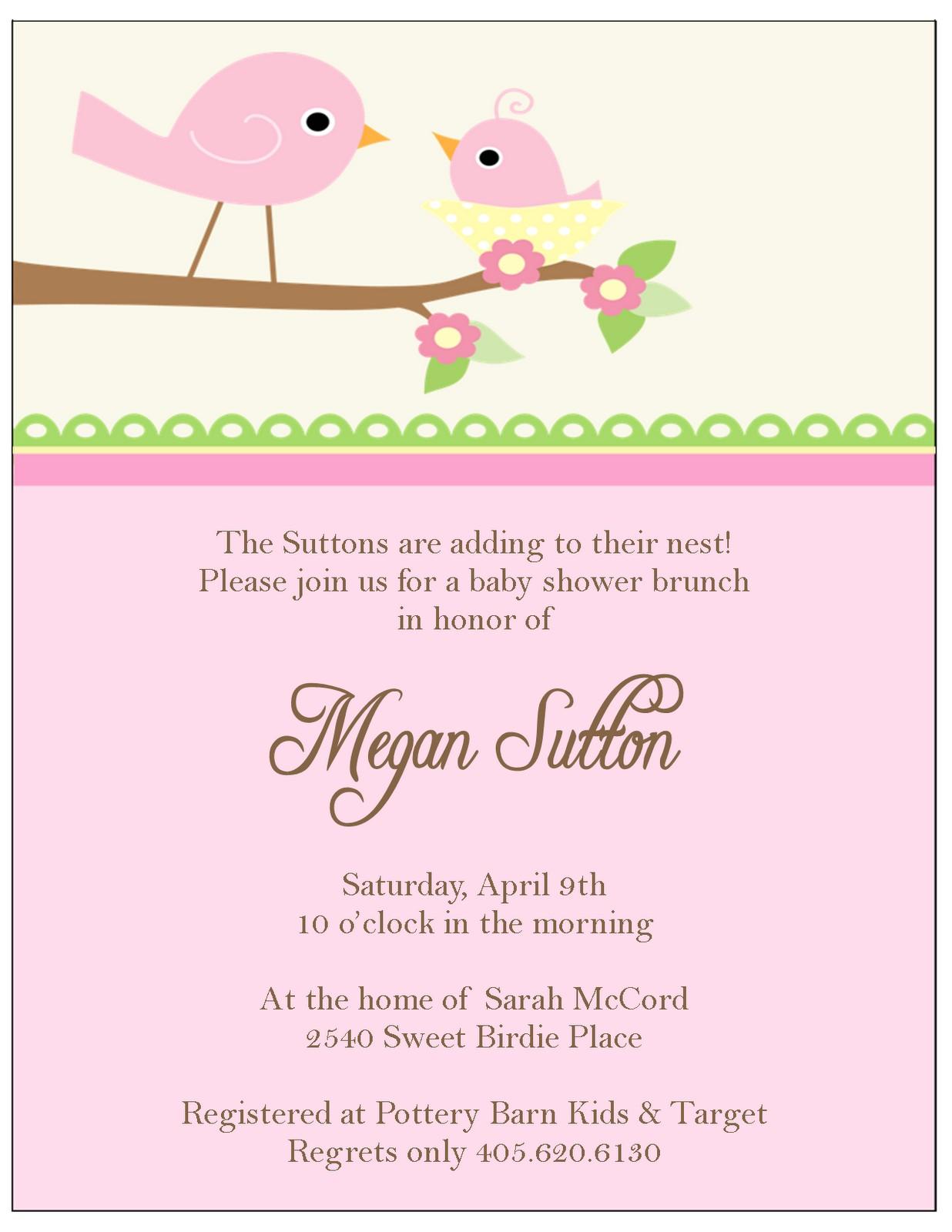 little bir baby shower invitations