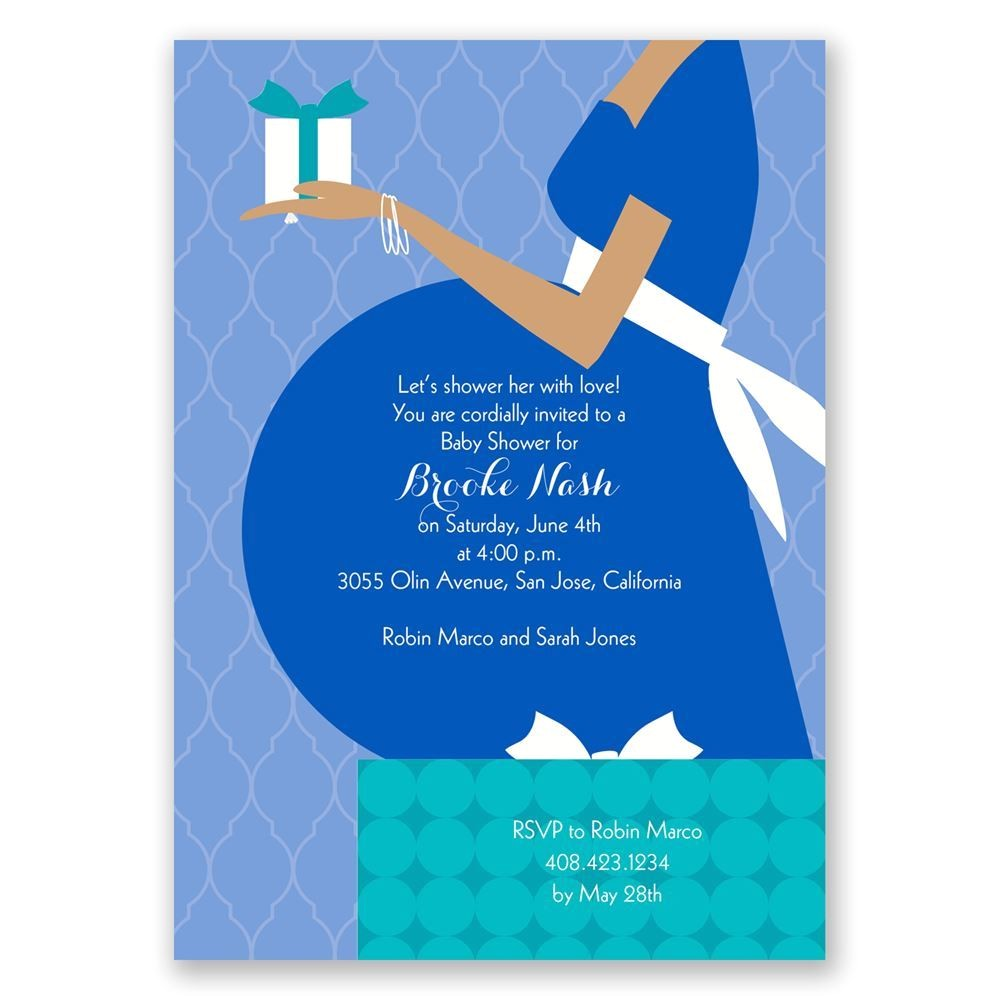 true t baby shower invitation