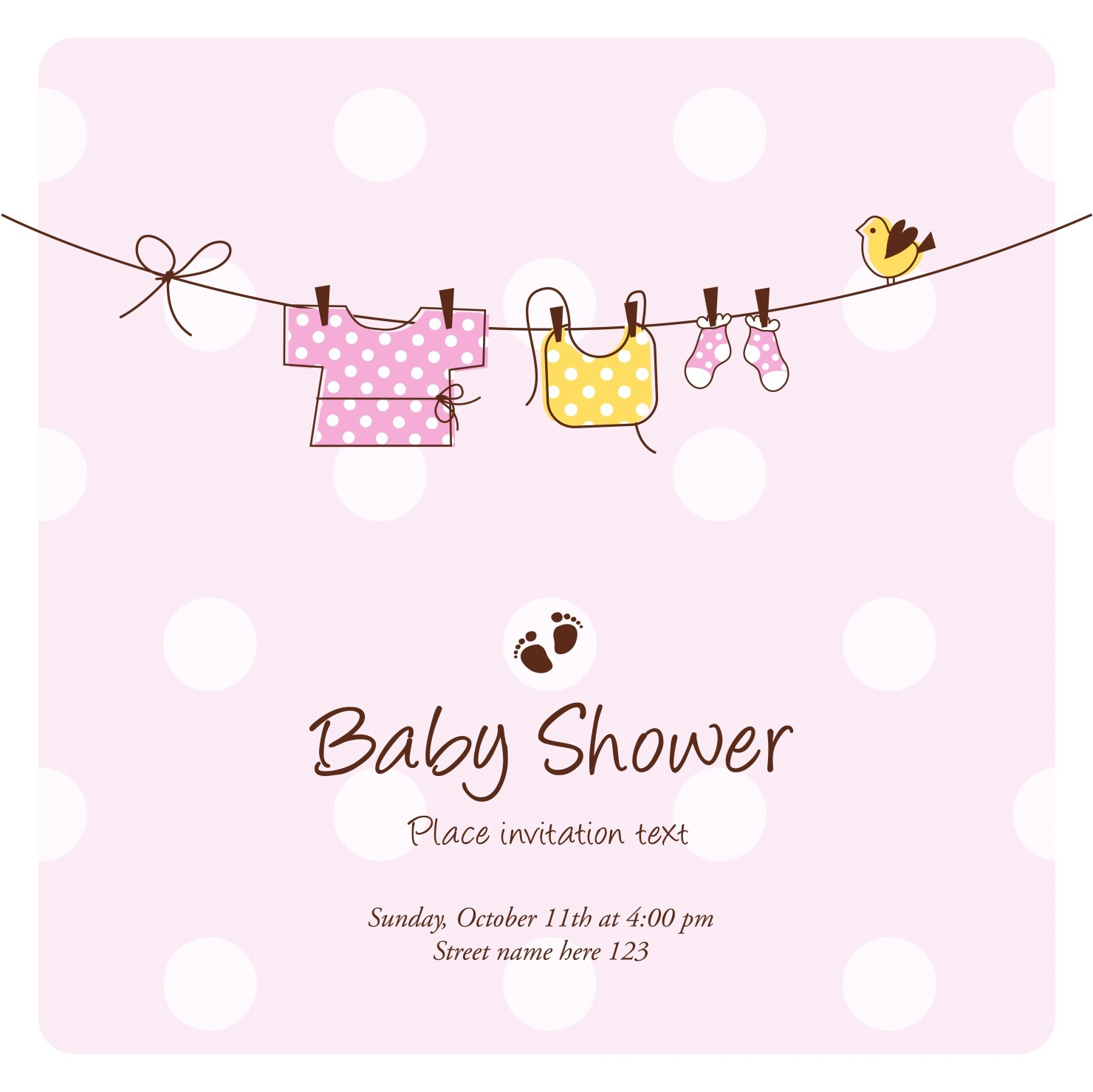 Baby Shower Invitation Cards for Girls Baby Shower Invitations the 25 Best Cards • Elsoar