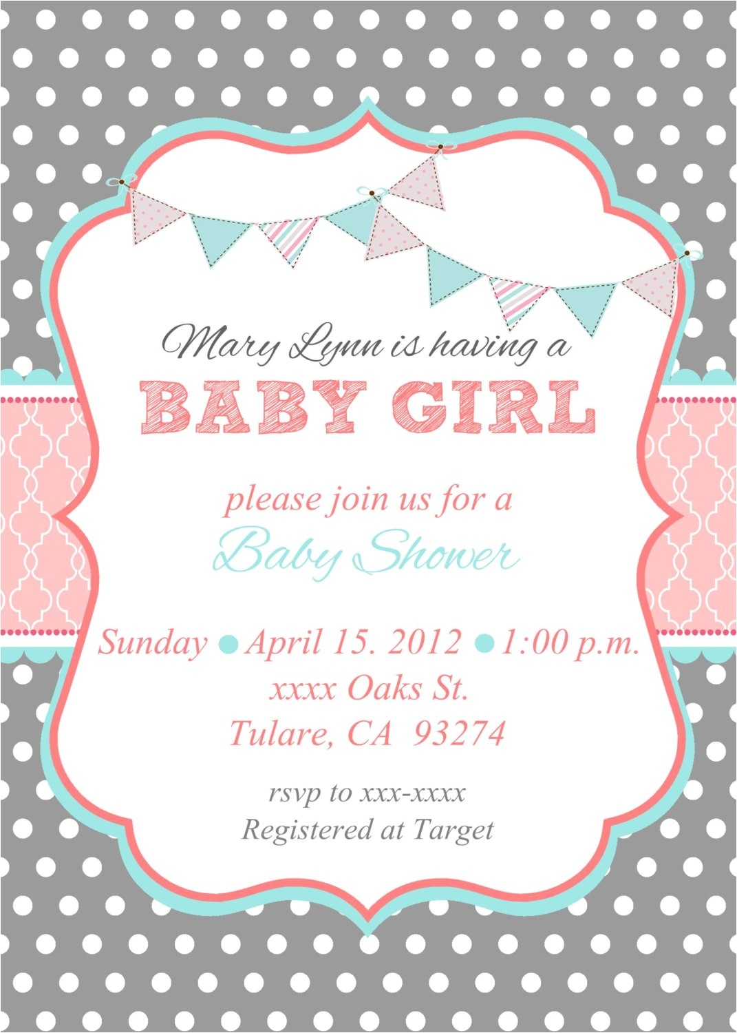 baby shower invites for girl