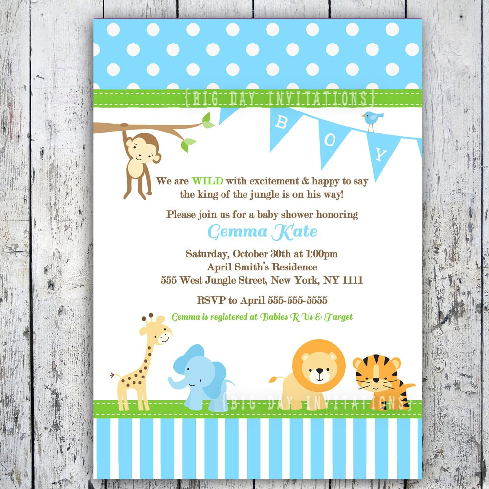 baby shower invitations for boy