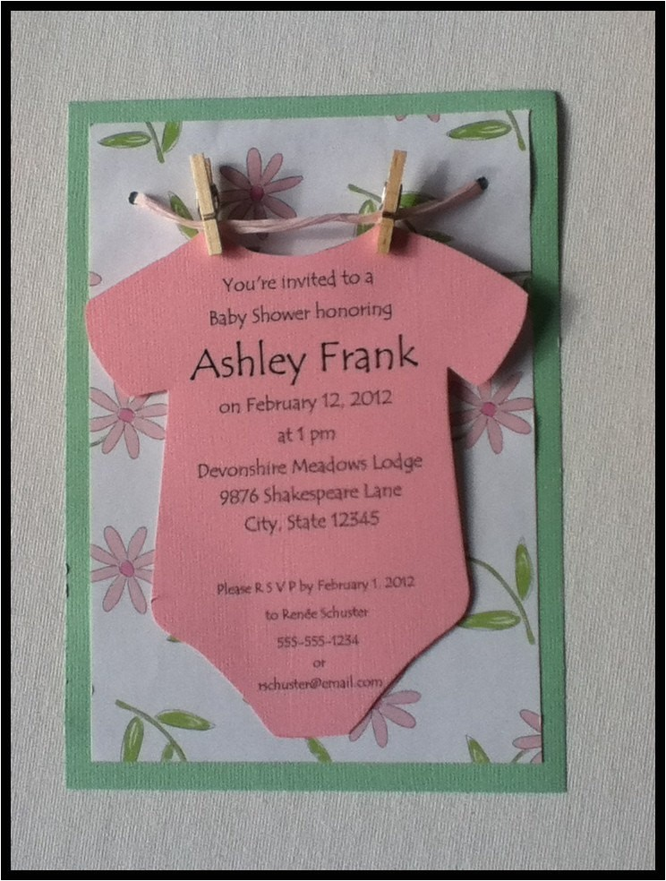 baby shower invitations ideas for girls