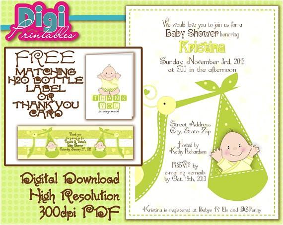baby shower invitation gender unknown