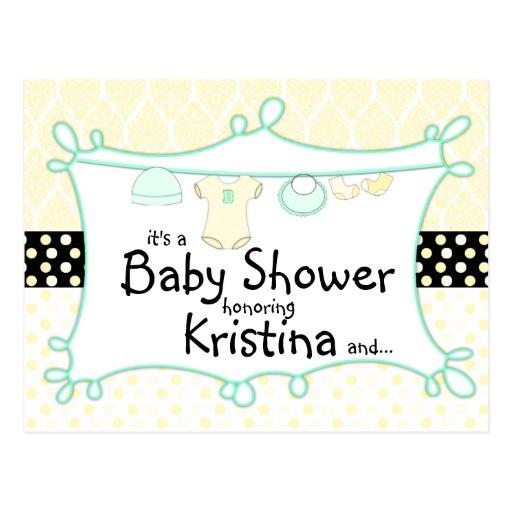 baby shower invitation gender unknown postcard