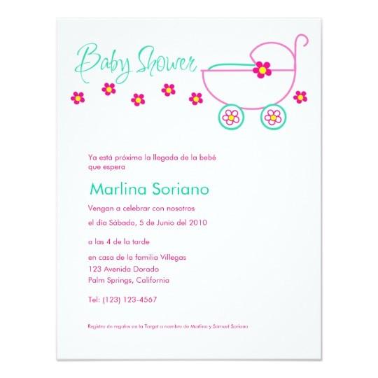 baby shower invitation en espanol spanish card