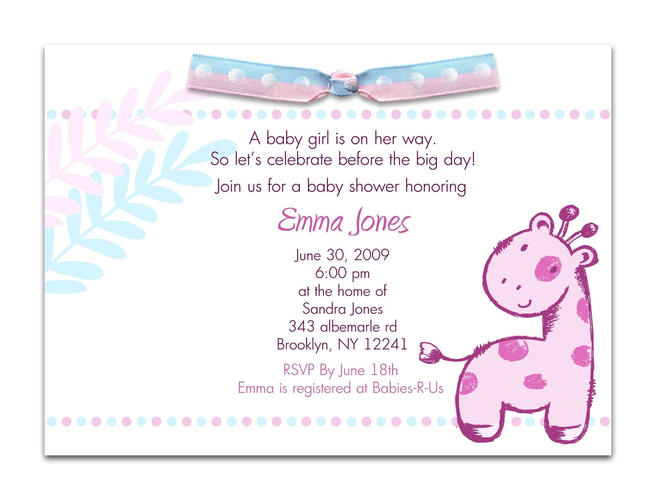 baby shower invitations in spanish