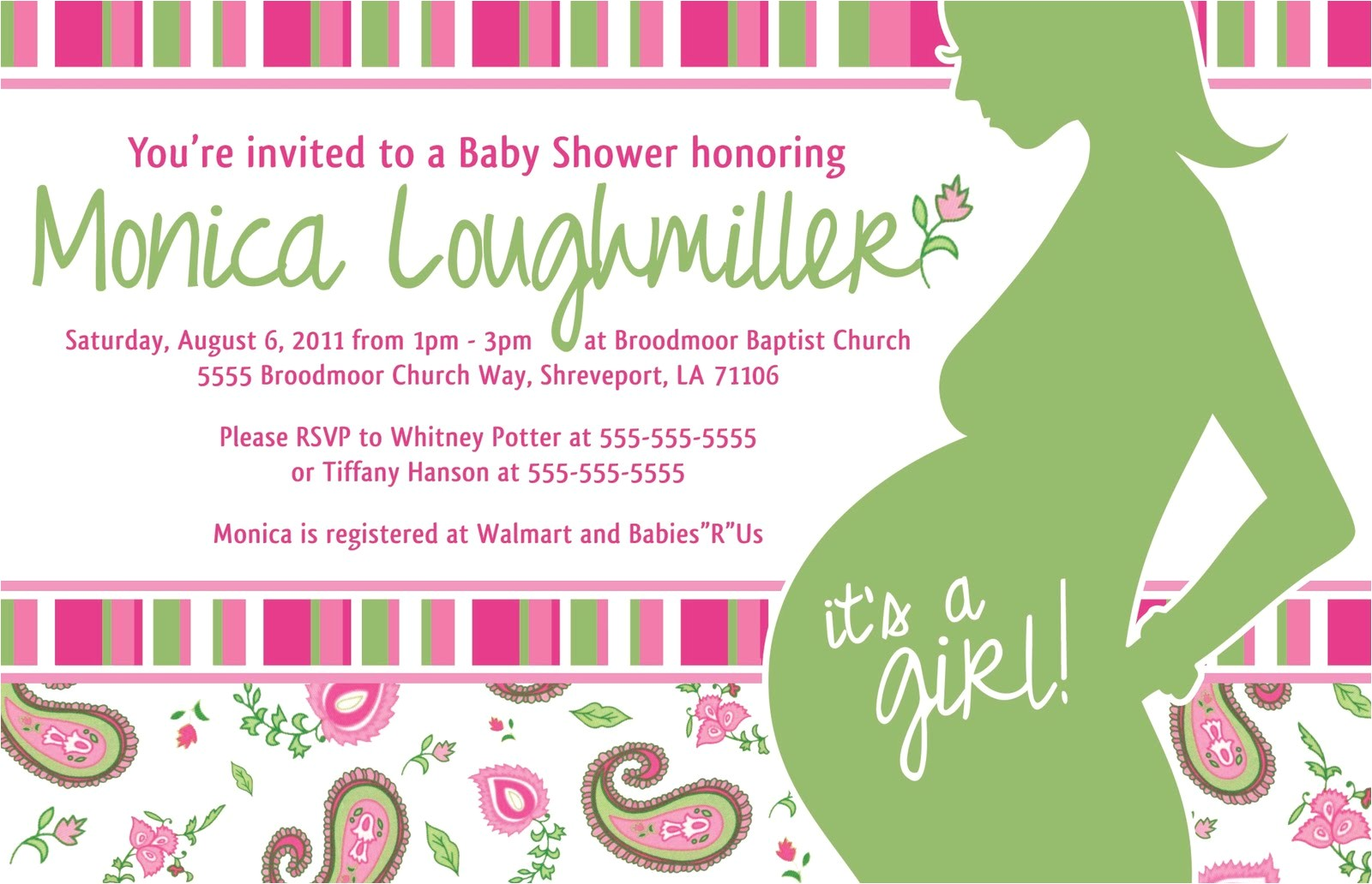 project of week baby shower invite