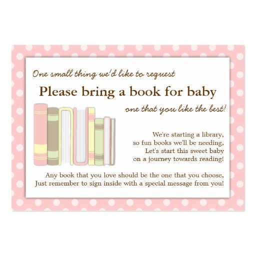baby shower bring a book insert