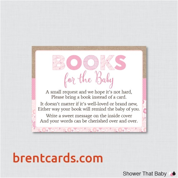 baby shower invitation inserts bring book