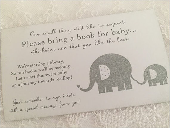 bring a book insert card baby shower