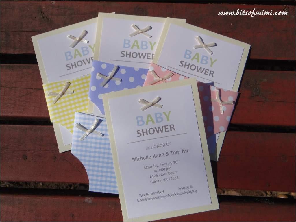 baby shower invitation kits