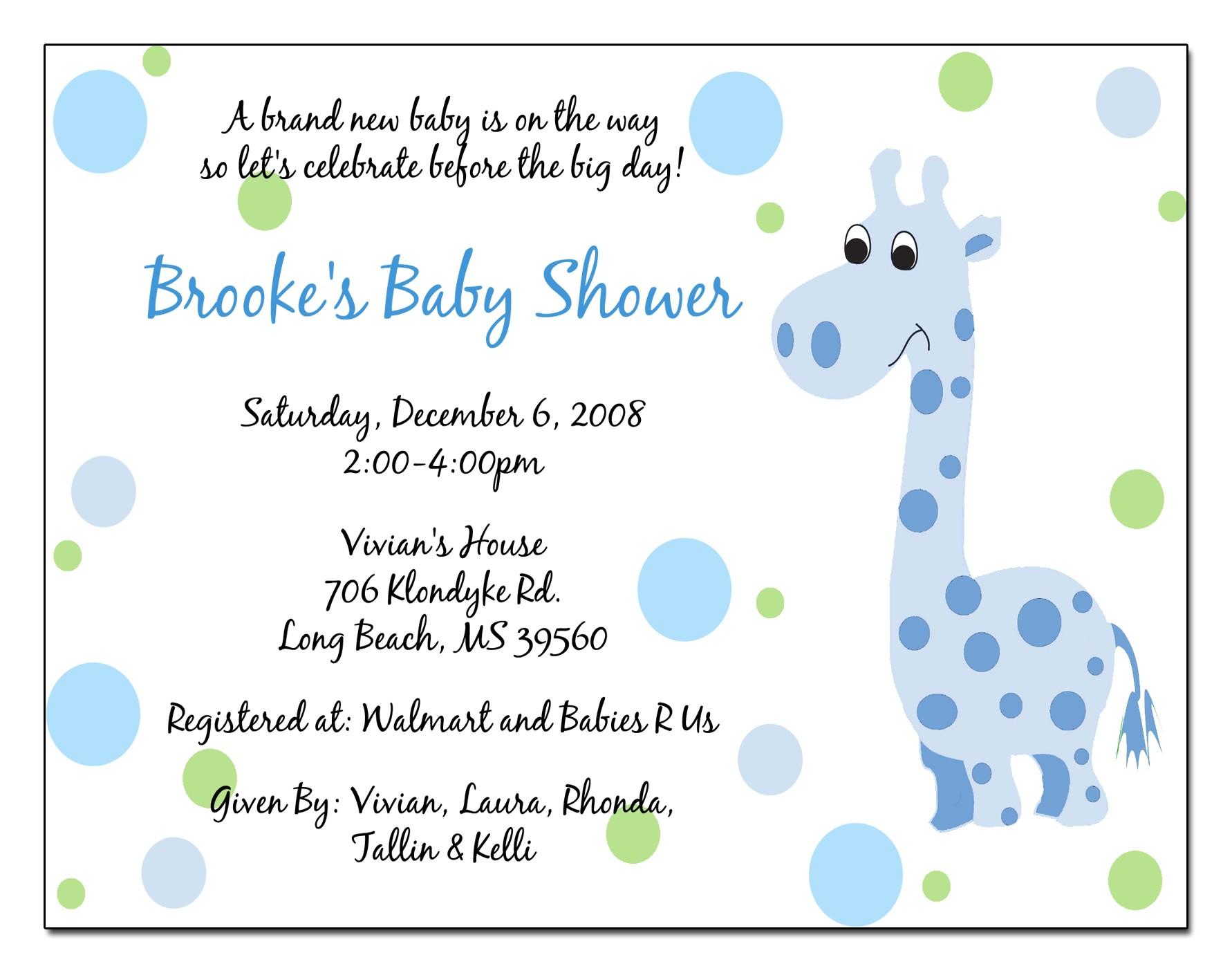 Baby Shower Invitation Language Invitation Baby Boy Quotes Quotesgram