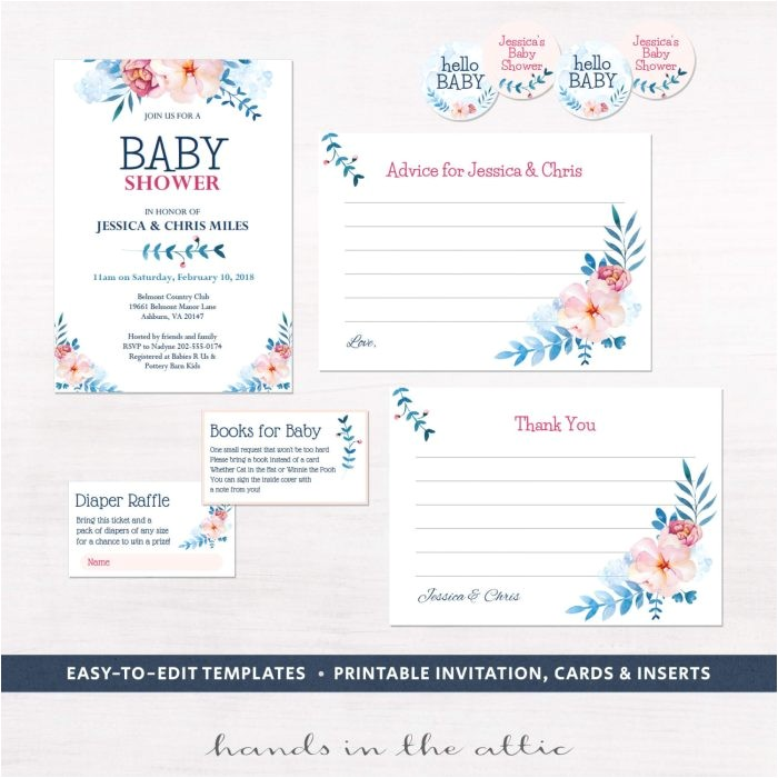 baby shower invitation kits