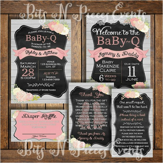 babyq baby shower invitation package