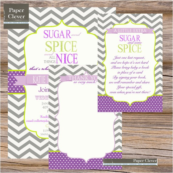 sugar spice baby shower invitation party