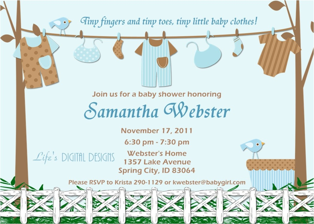 baby shower invitations for boy baby