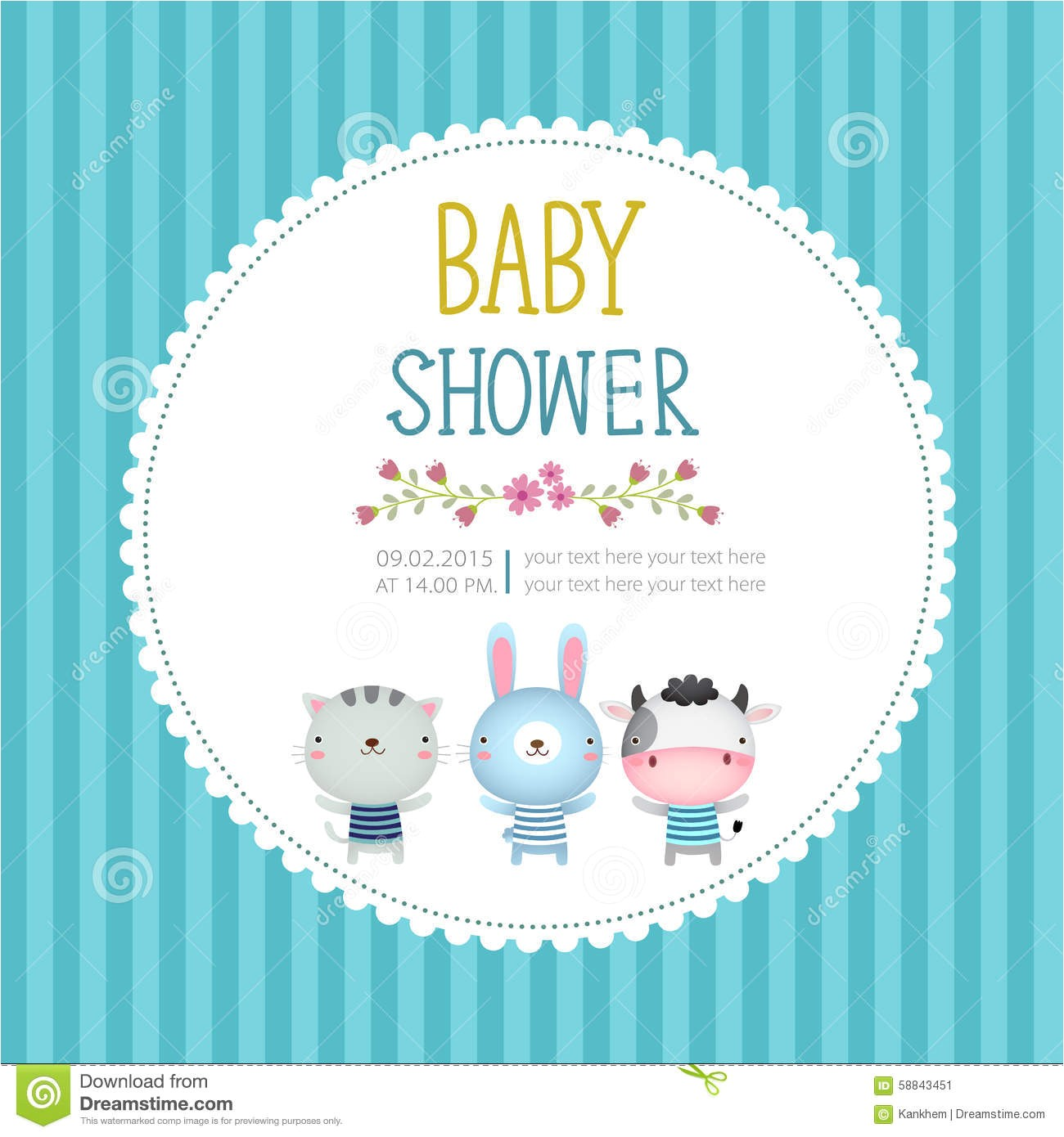 cool baby shower invitation postcards
