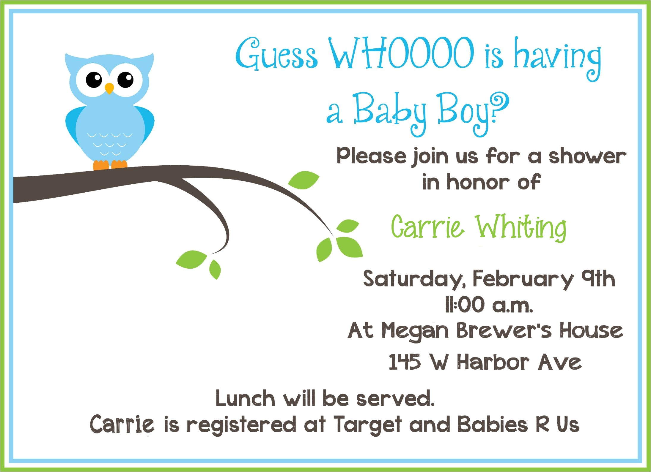 Baby Shower Invitation Samples Free Blog