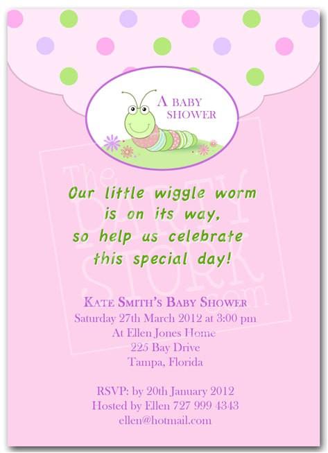 baby shower invite wording for girl