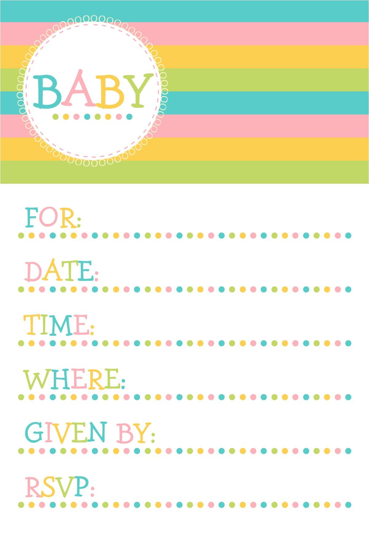 Baby Shower Invitation Templates Printable Free Baby Shower Invitation Template