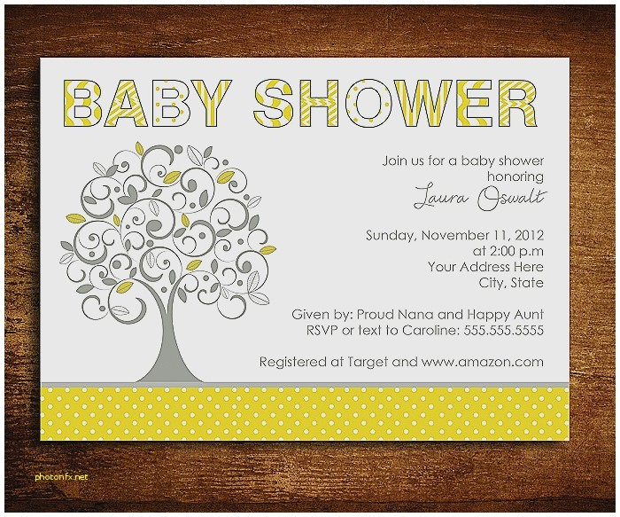 baby shower invitation with baby name