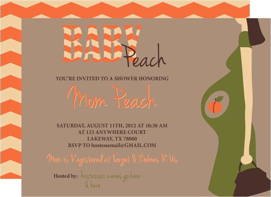 themes baby shower invitations without baby name with baby