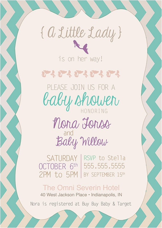 vintage aqua mermaid baby shower