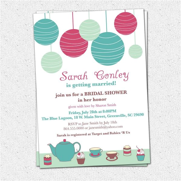 bridal shower invitations t card