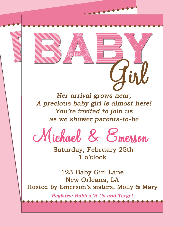 Baby Shower Invitation Wording for Girls Baby Shower Invitation Wording Lifestyle9