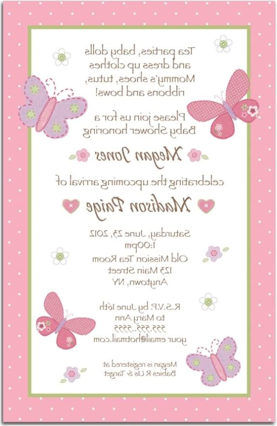 baby shower invite wording
