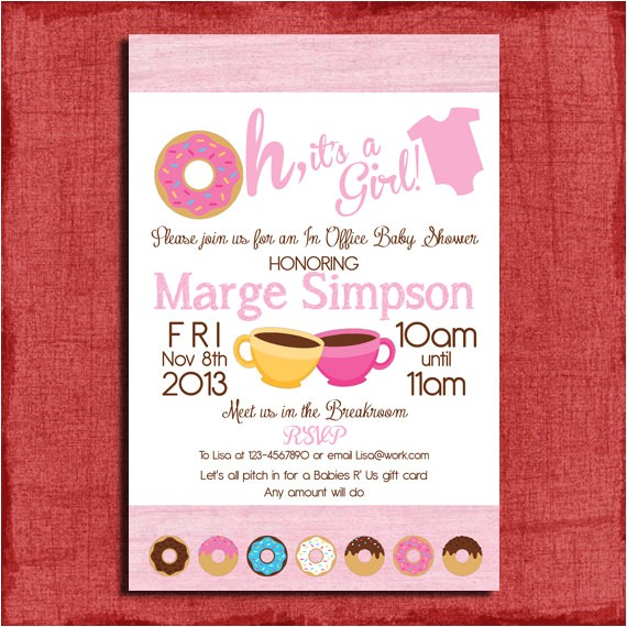 printable office donut baby shower