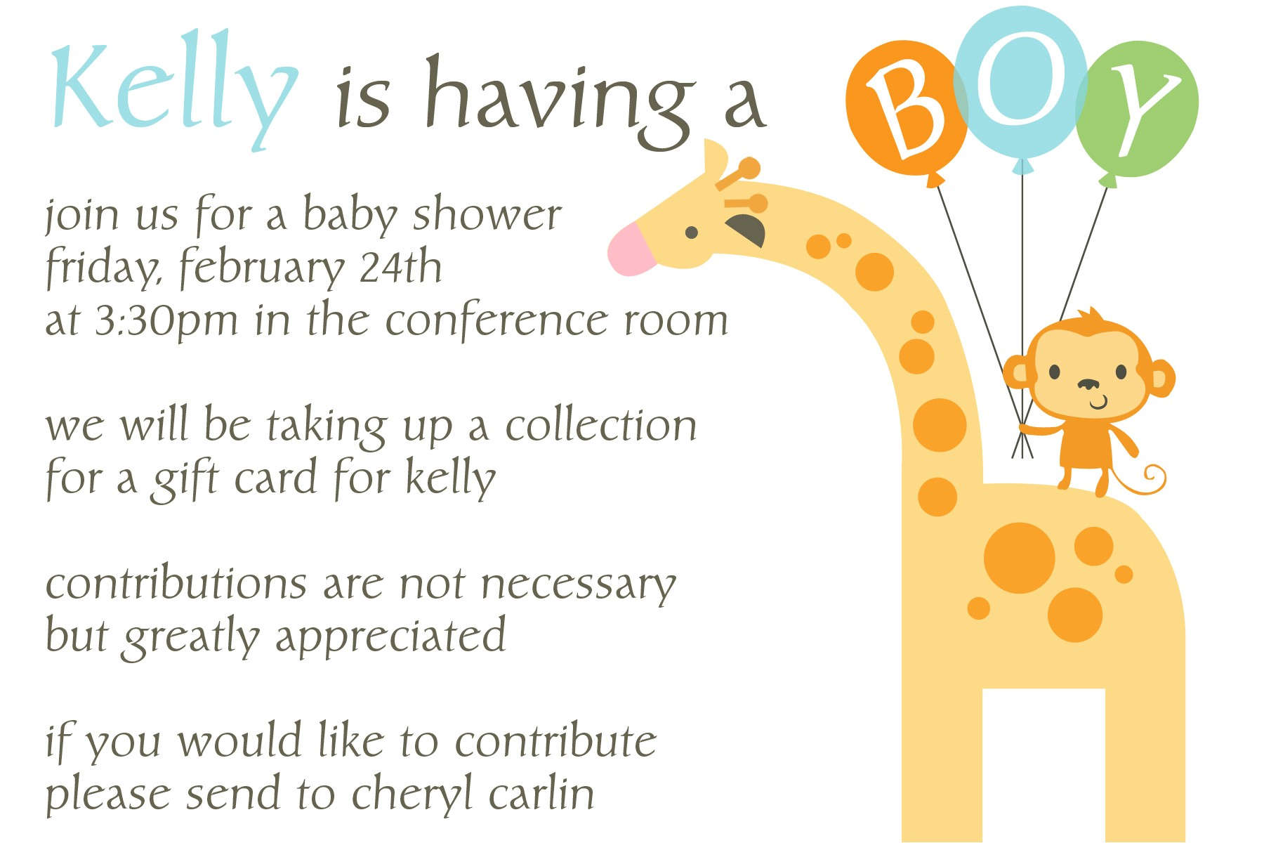 work baby shower invitation wording