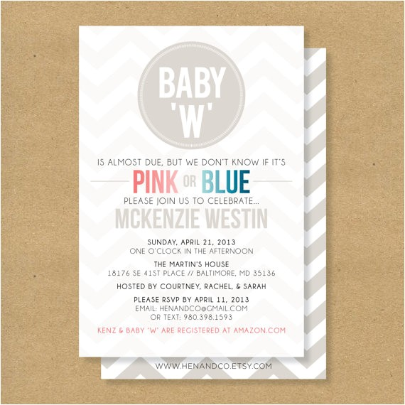 baby shower invitation gender neutral