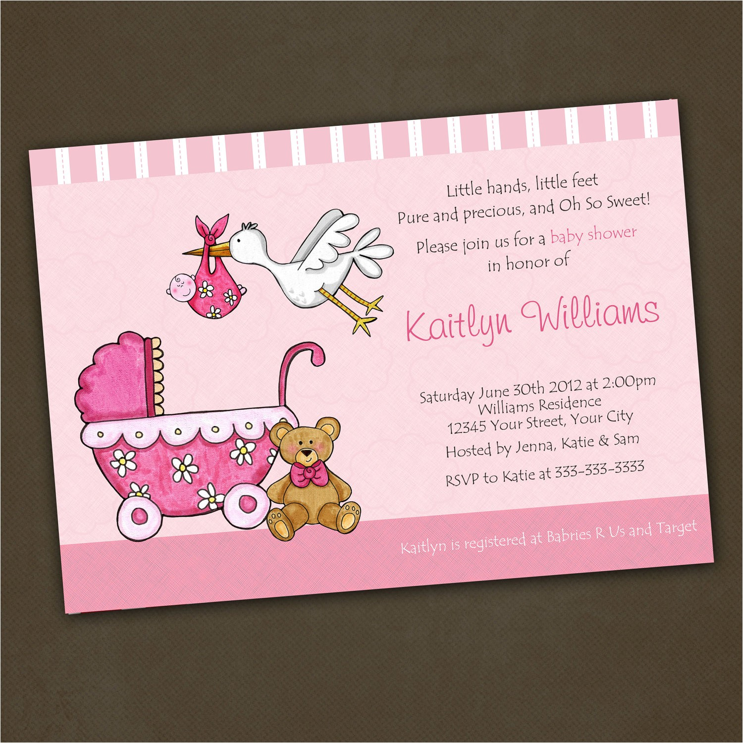 feminine baby shower invitations gender unknown