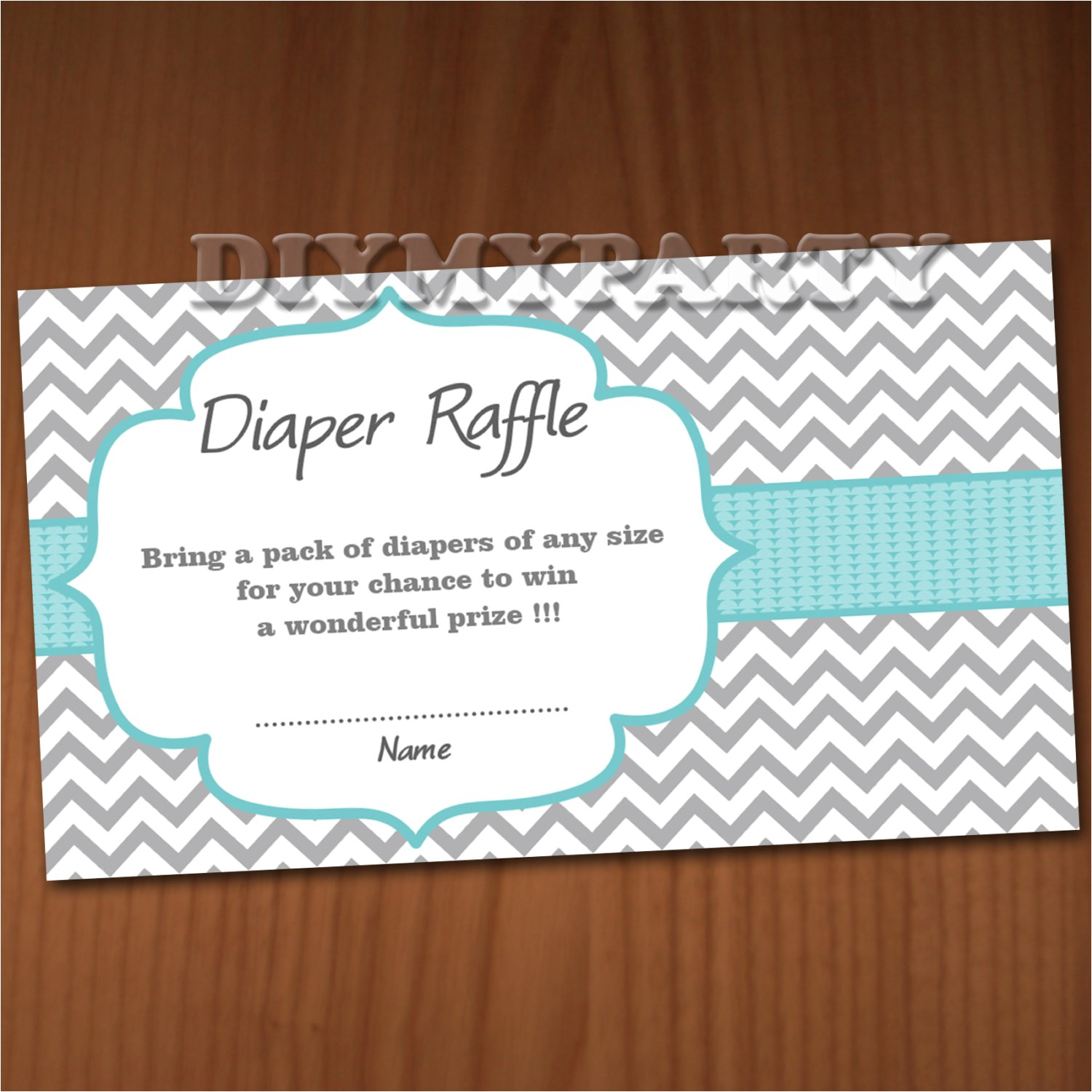 baby shower diaper raffle ticket diaper