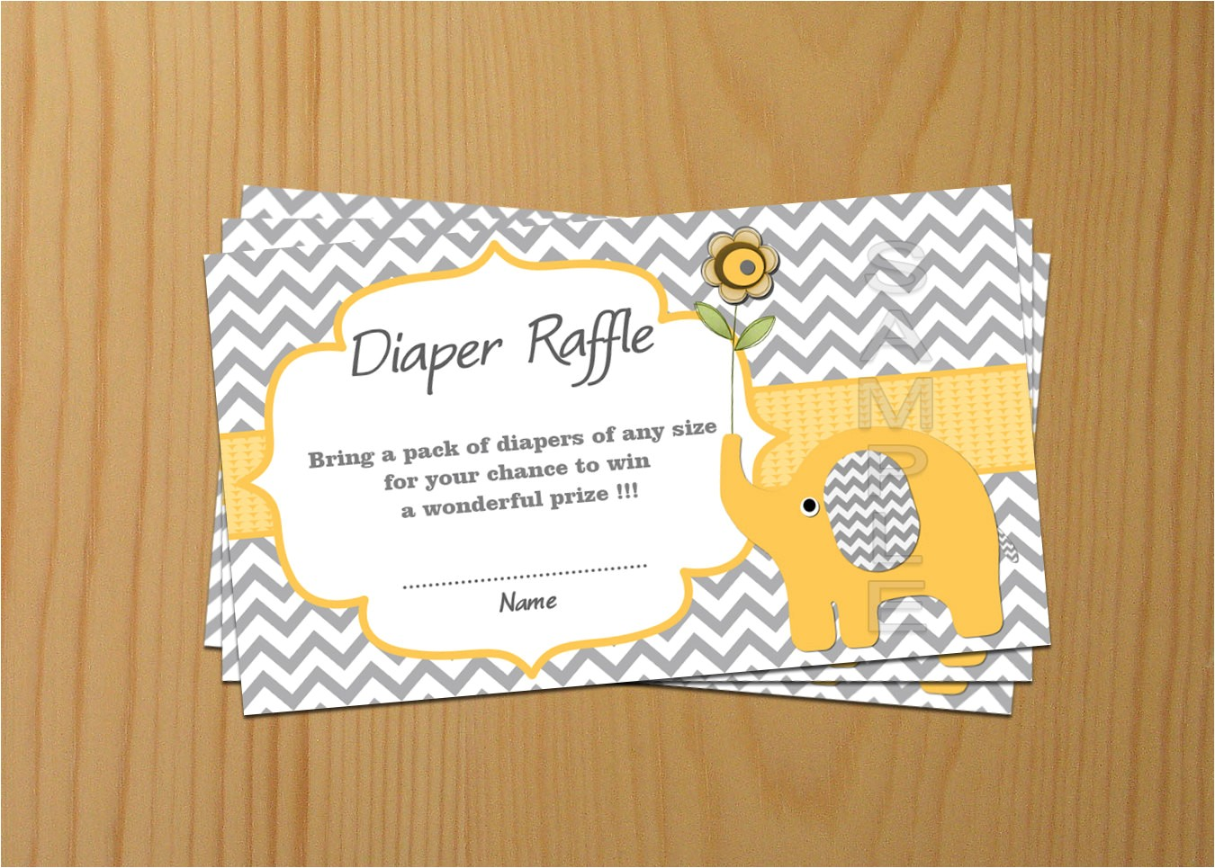 elephant baby shower diaper raffle