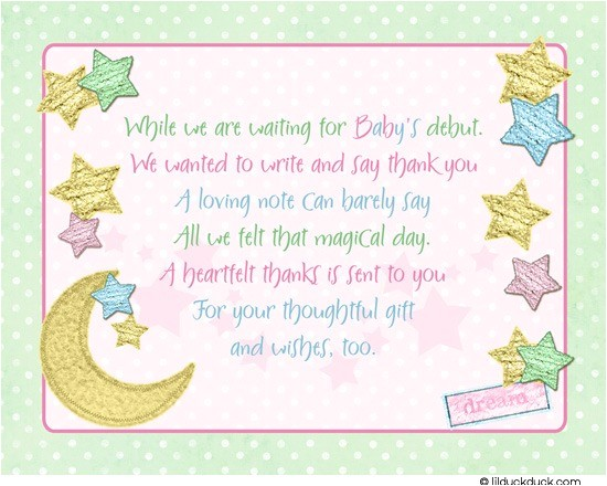 twinkle little star thank you