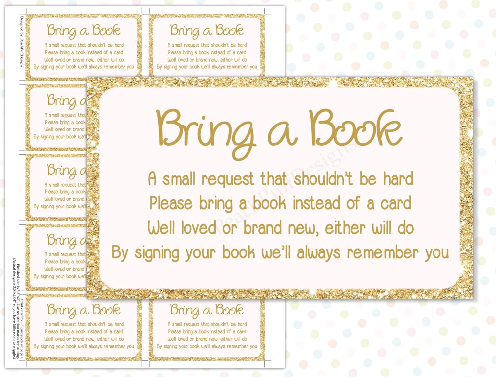 best sample baby shower invitations bring a book instead of card poem