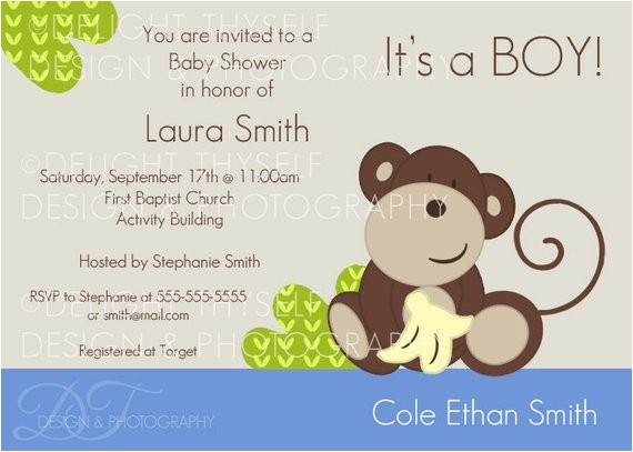 baby shower baby boy monkey theme