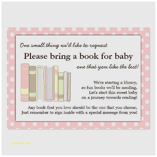 baby shower invite wording bring a book