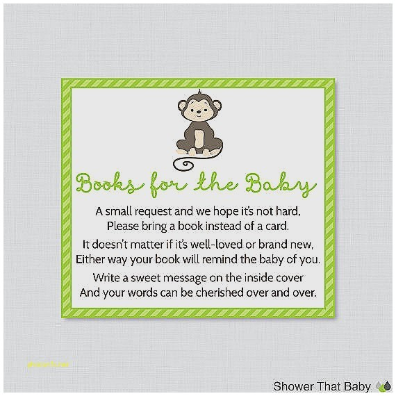 baby shower invitations bring a book instead of card